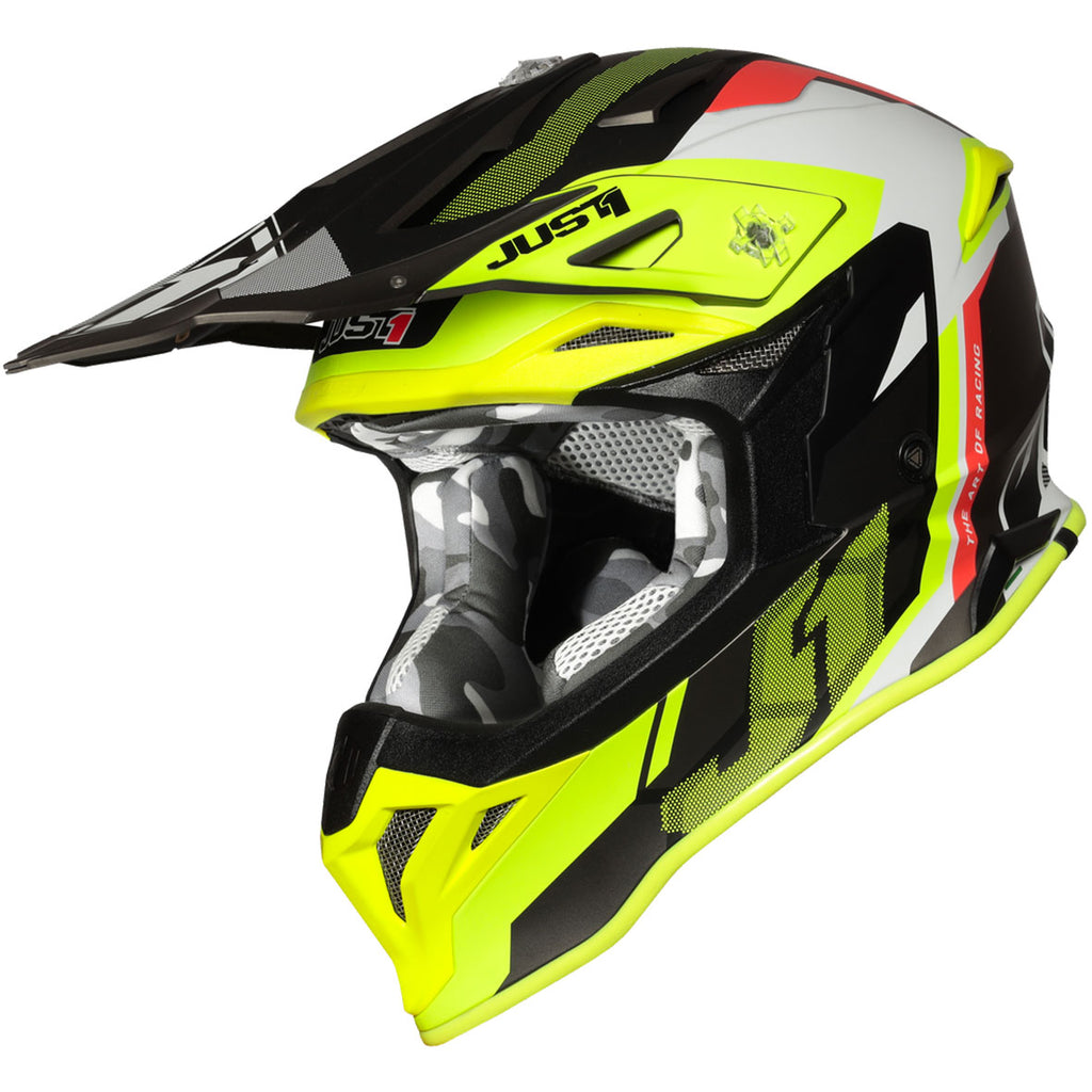 Just1 J39 Reactor Helmet (Fluo Yellow/Red/Titanium Matte)