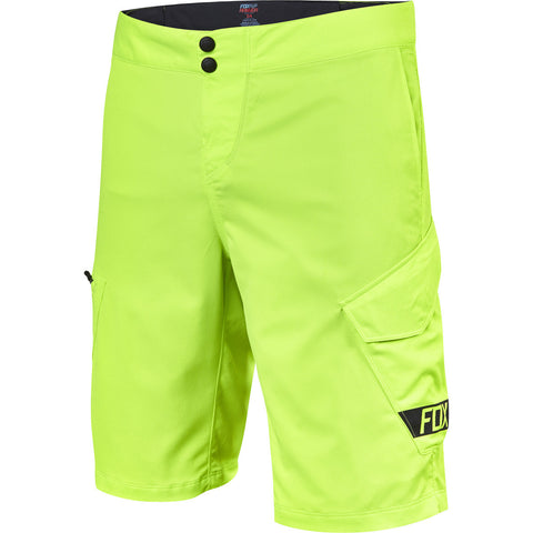 "MTB Fox Ranger Cargo Shorts 12"" (Flo Yellow)"