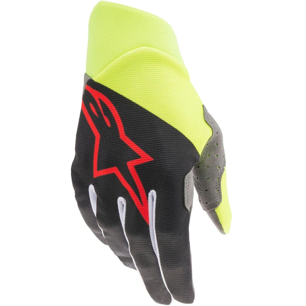 MX21 Alpinestars Dune Gloves (Black/Fluo Yellow/Bright Red)