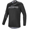 MX21 Alpinestars Fluid Graphite Jersey (Black/Dark Grey)