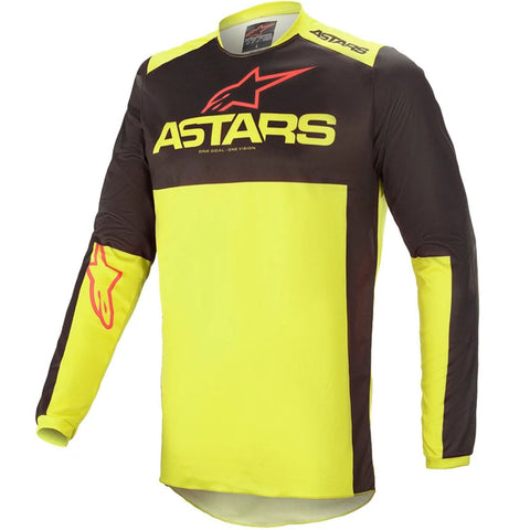 MX21 Alpinestars Fluid Tripple Jersey (Black/Fluo Yellow/Bright Red)