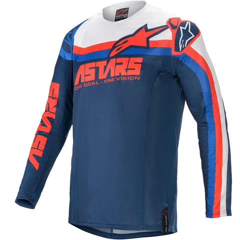 MX21 Alpinestars Techstar Venom Jersey (Dark Blue/Bright Red/White)