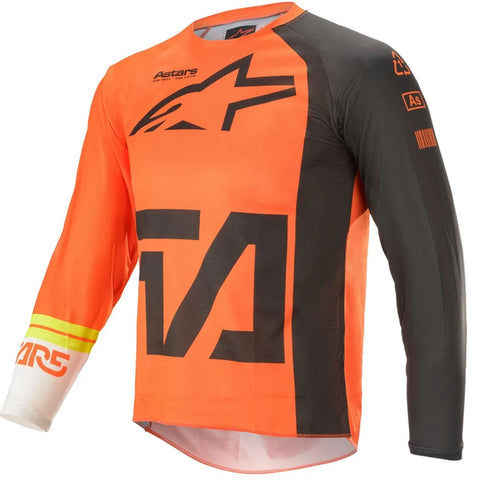 MX21 Alpinestars Youth Racer Compass Jersey (Anthracite/Fluo Orange/White)