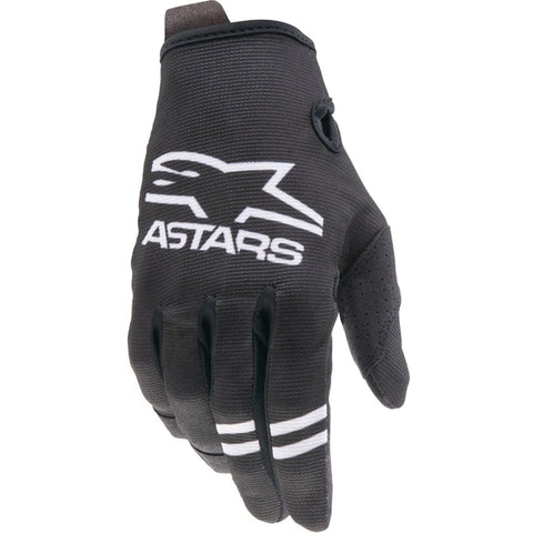 MX21 Alpinestars Youth Radar Gloves (Black/White)