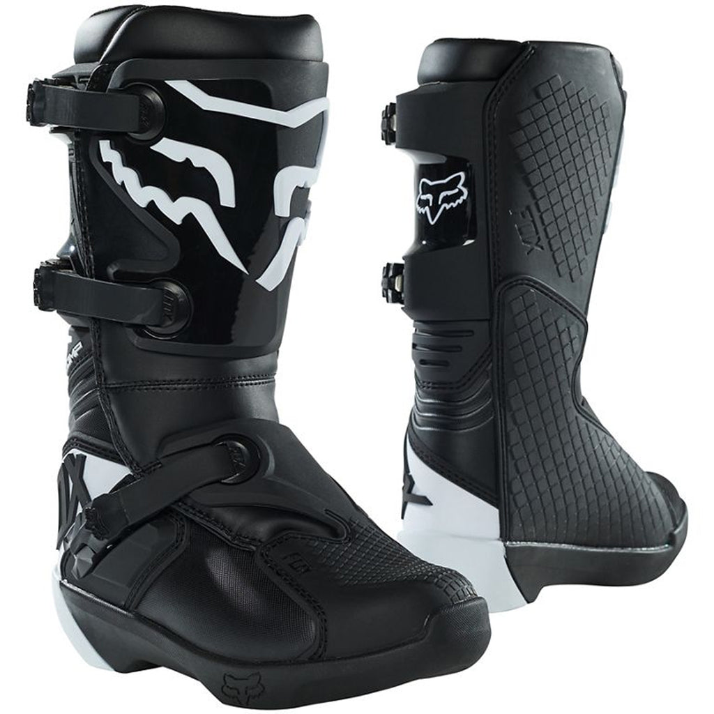 MX21 Fox Youth Comp Boots (Black)