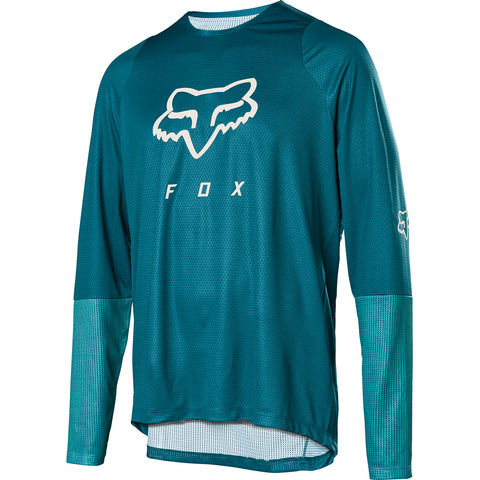 MTB Fox Defend LS Foxhead Jersey (Maui Blue)