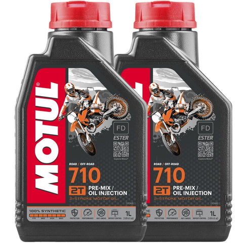 *Multi-Pack* 2 x Motul 710 2T Oil Off Road (1 Litre)