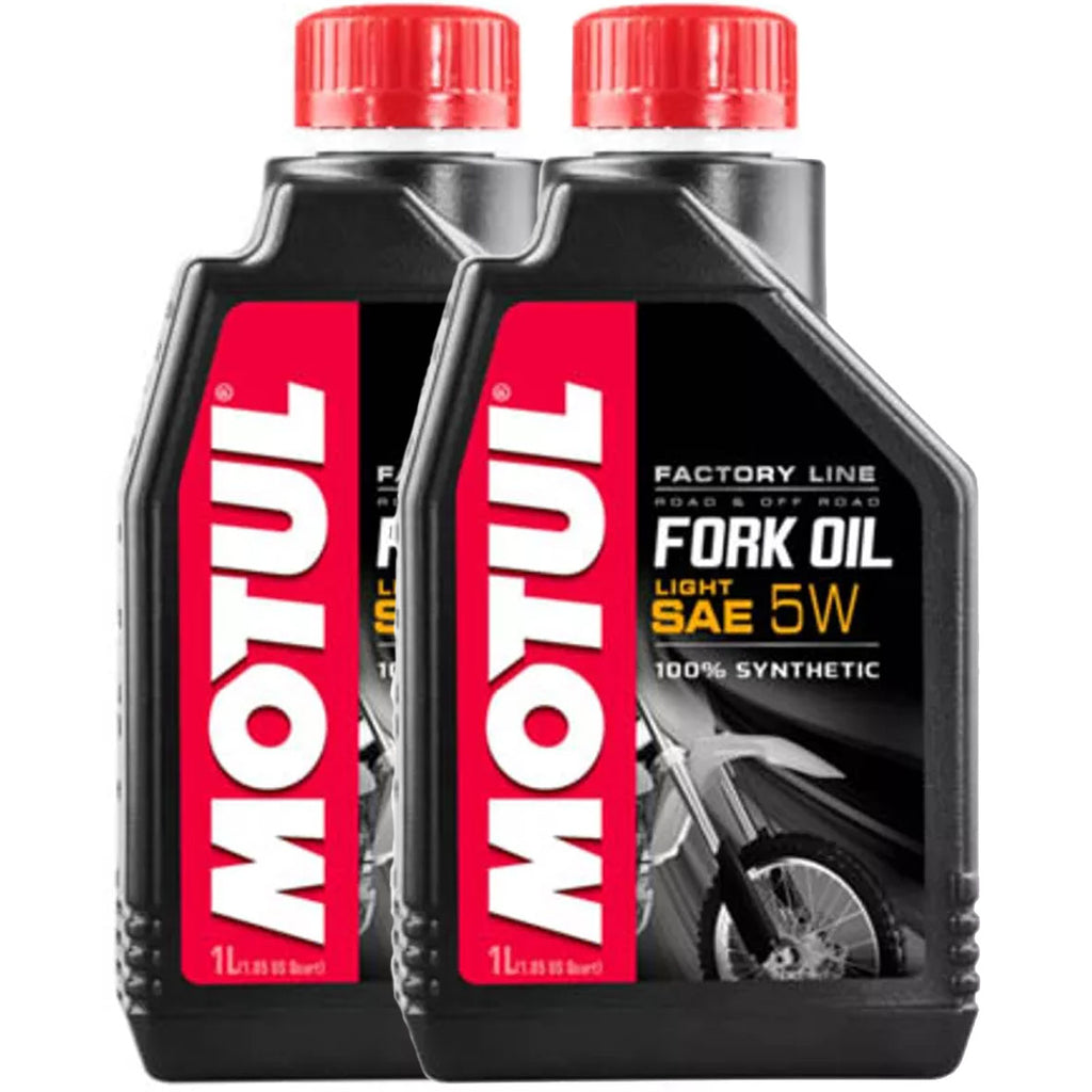 *Multi-Pack* 2X Motul Factory Line Fork Oil Light SAE 5W (1 Litre)