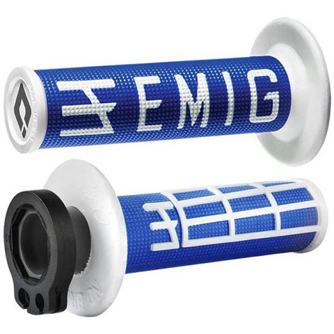 ODI EMIG V2 Lock On Grips (Blue/White)