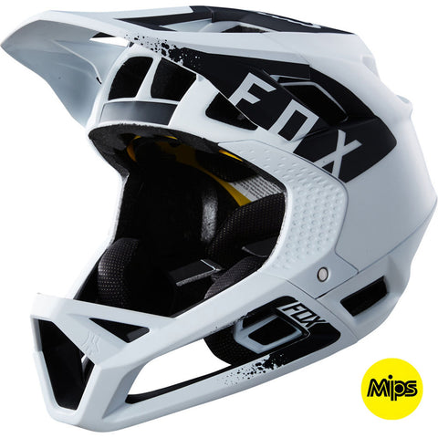 Fox MTB Proframe Mink Full Face Helmet with MIPS Tech (White)
