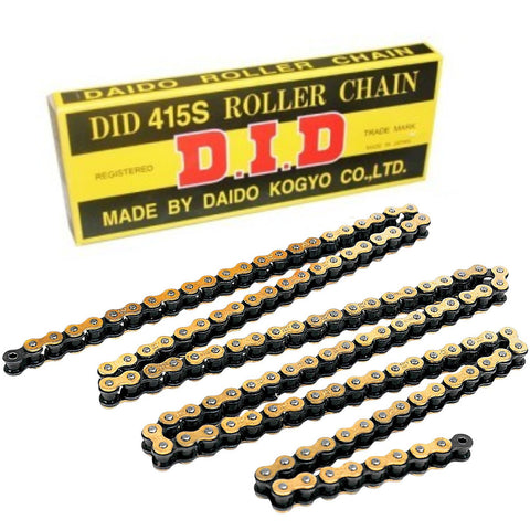 DID 415S 132 Link Standard Chain (Gold/Black)