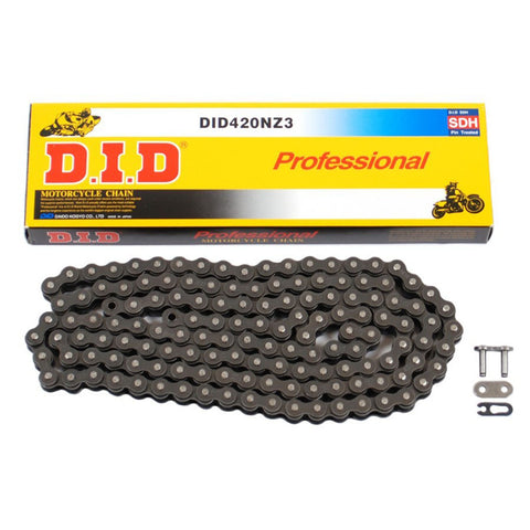DID 420NZ3 126 Link Professional Chain (Black)
