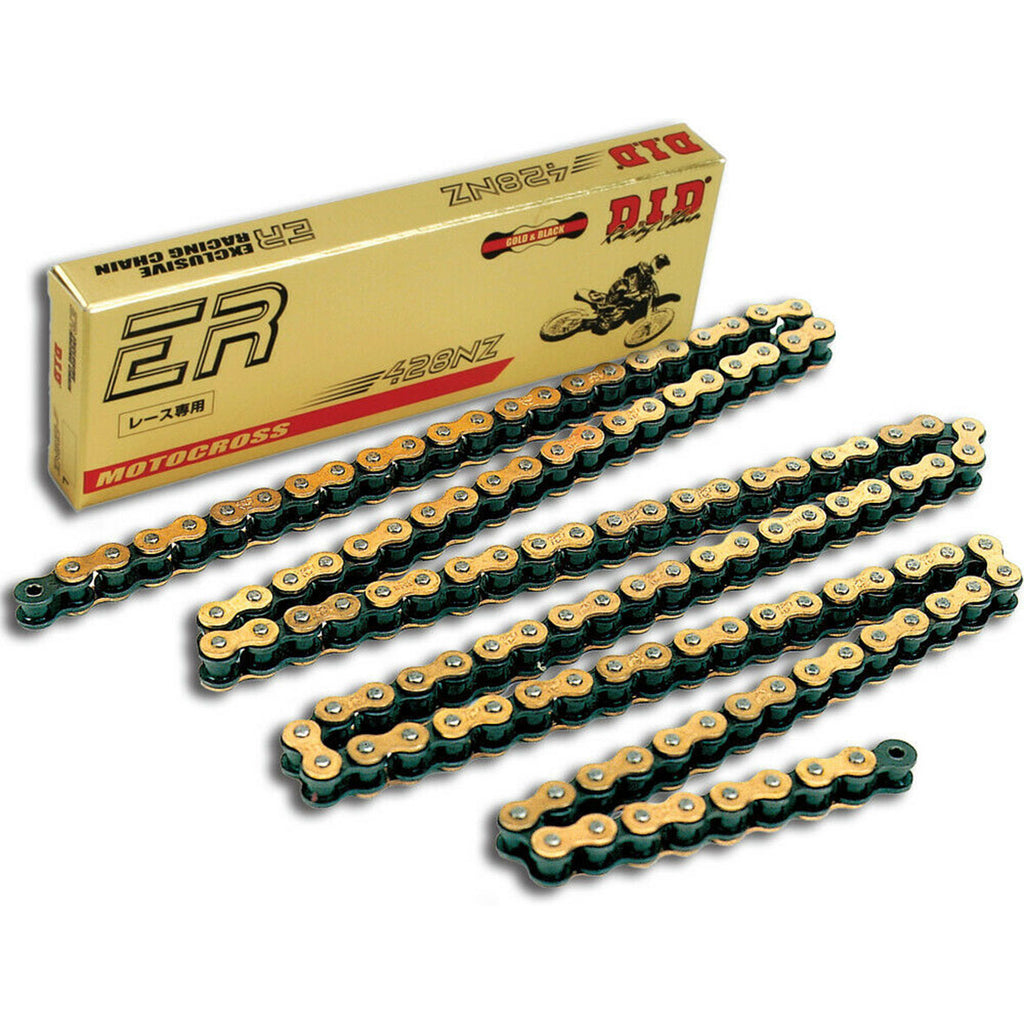 DID 428NZ 132 Link Racing Chain (Gold/Black)