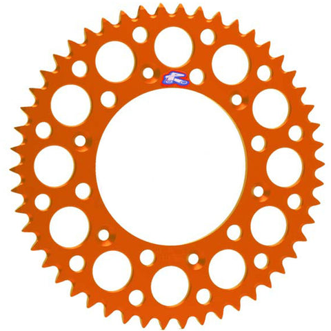 224U-520-50GPOR Renthal Ultralight 50 Tooth Rear Sprocket - KTM (Orange)