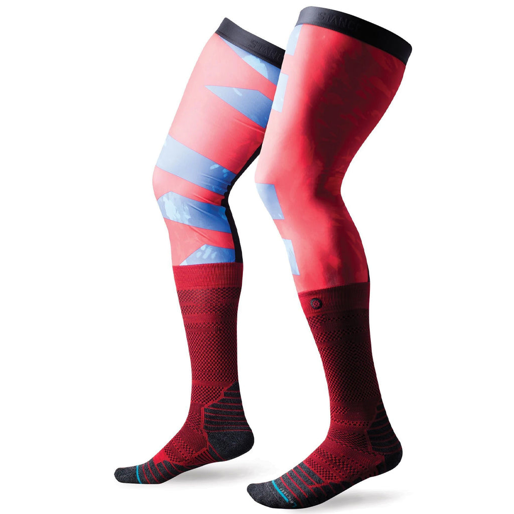 Stance Flyer Brace Performance Moto Socks (Red)