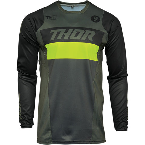 MX21 Thor Pulse Racer Army Jersey (Army/Acid)
