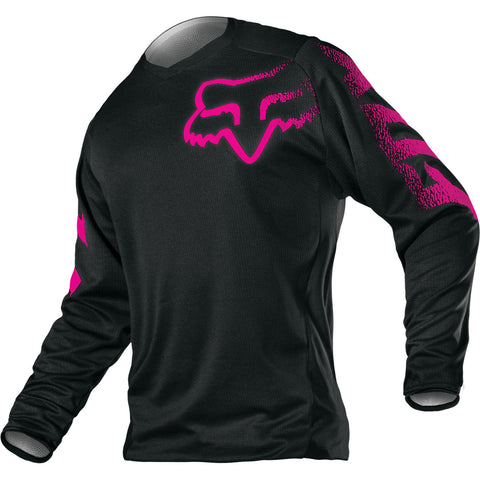 MX17 Fox Blackout Jersey Womens (Black/Pink)