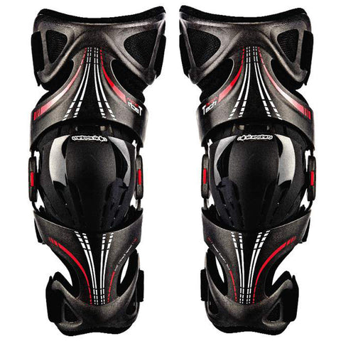 Alpinestars Fluid Tech Carbon Knee Brace (Black/Red)