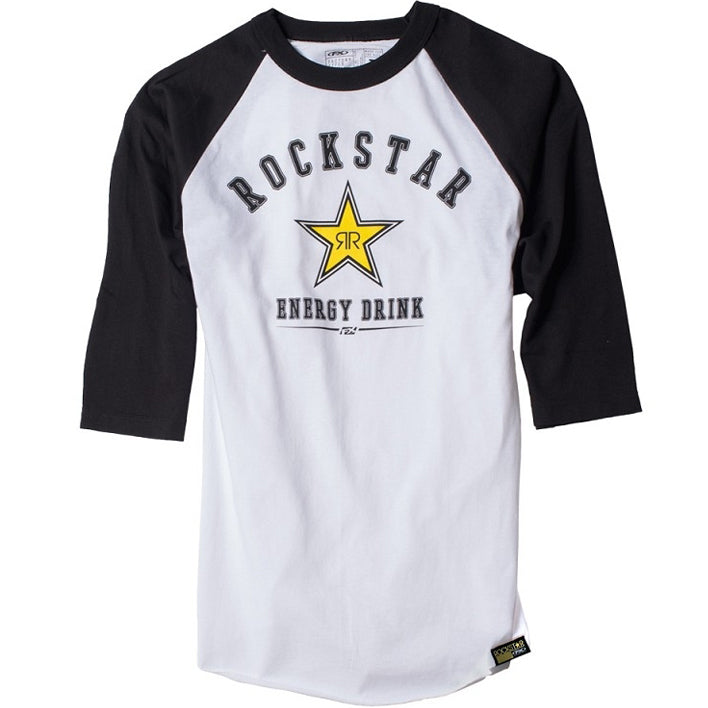 Rockstar Baseball 3/4 Sleeve Tee (White/Black)