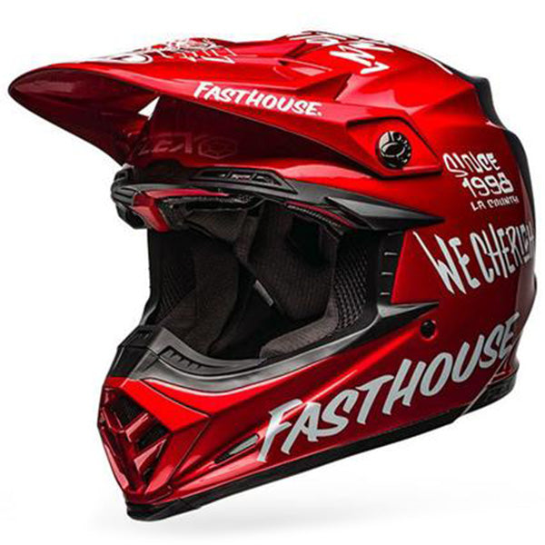 Bell Moto-9 Flex Fasthouse DID (Gloss Red /Matt Navy)