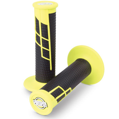 Protaper Clamp-on Half Waffle Grips (Neon Yellow/Black)