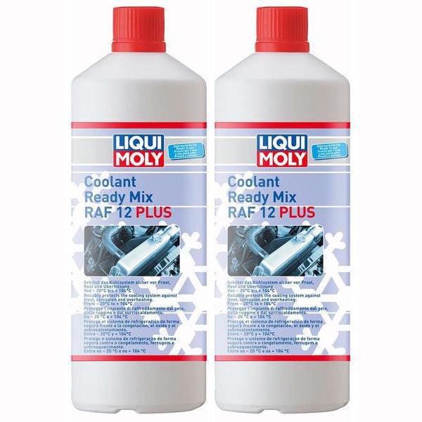 *Multipack* 2 x Liqui Moly Motorbike Coolant Ready Mix Raf 12 Plus (1 Litre)