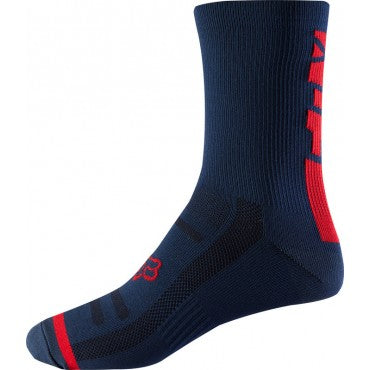 "Fox 8"" Logo Trail Sock (Light Indigo)"