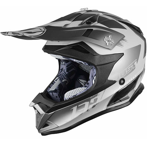 JUST 1 J32 Pro Kick Helmet (Titanium) + Free pair of Just1 Vitro Goggles
