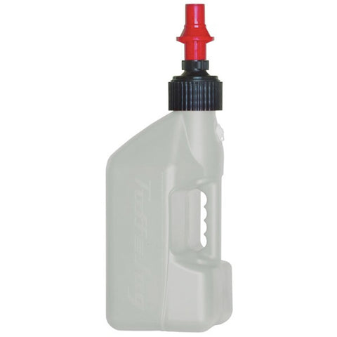 TUFF 10L Utility Jug With Red Ripper Cap (White)