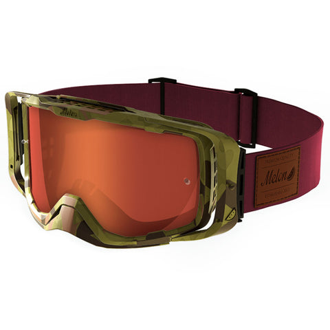 Melon Optics Diablo Goggles (Camo Frame/Camo Outrigger/Red Chrome Lens/Burgundy Strap)