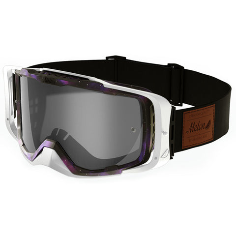 Melon Optics Diablo Goggles (Galaxy Frame/White Outrigger/Silver Chrome Lens/Black Strap with Leather Patch)
