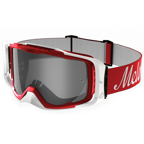 Melon Optics Diablo Goggles (Red Frame/White Outrigger/Silver Chrome Lens/Red Strap)