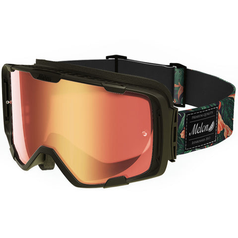 Melon Optics Parker Goggles (Black Frame/Red Chrome Lens/Tropical Strap)