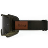 Melon Optics Parker Goggles (Black Frame/Dark Smoke Lens/Black Strap with Leather Patch)