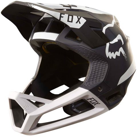 Fox MTB Proframe Moth Full Face Helmet (Black/White)