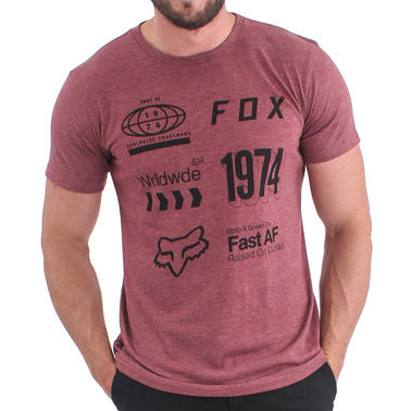 Fox Murc Wrldwd Tee (Heather Chestnut)