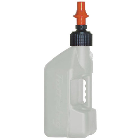 TUFF 10L Utility Jug With Orange Ripper Cap (White)