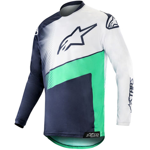 Alpinestars Racer Supermatic Jersey 19 (Navy/Teal/White)