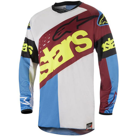 Alpinestars Racer Flagship 18 Jersey (Red/White/Aqua)