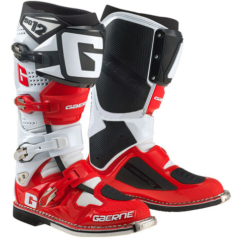 Gaerne SG12 Boots (White/Red/Black)