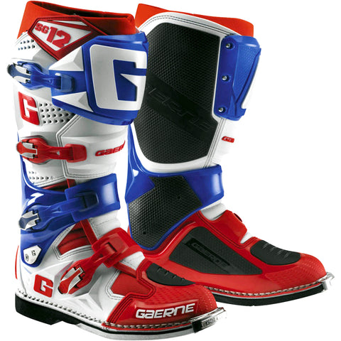 Gaerne SG12 Boots Limited Edition (White/Blue/Red)
