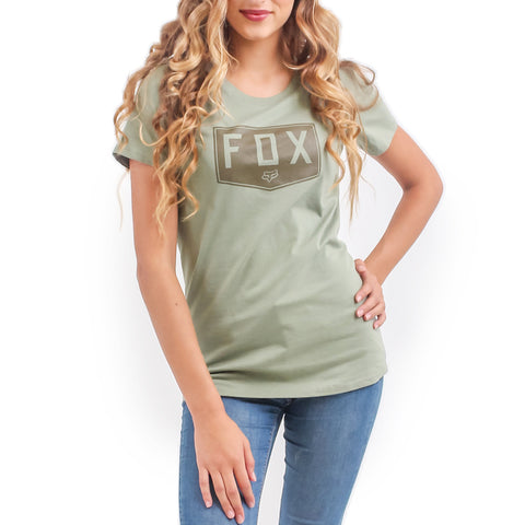 Fox Shield Badge Women's Crew Tee (Combat)