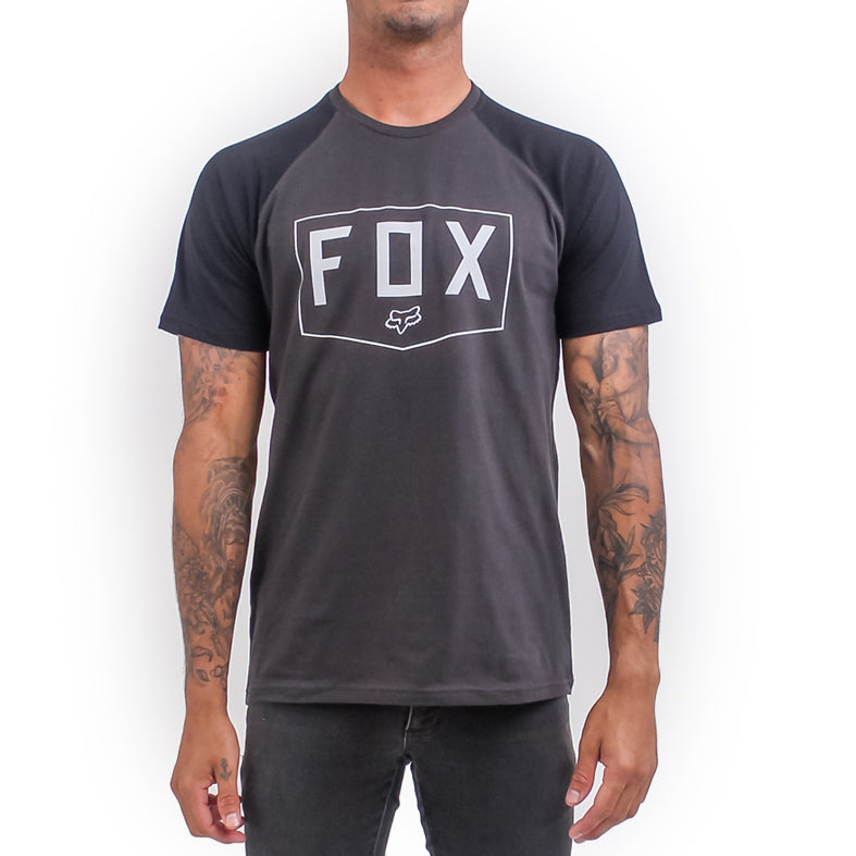 Fox Shield Raglan Tee (Vintage Black)