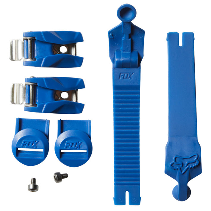 Fox 180 Boot Strap / Buckle / Pass Kit (Blue)