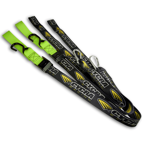 Cycra Tie Downs - Set (Kawasaki Green)