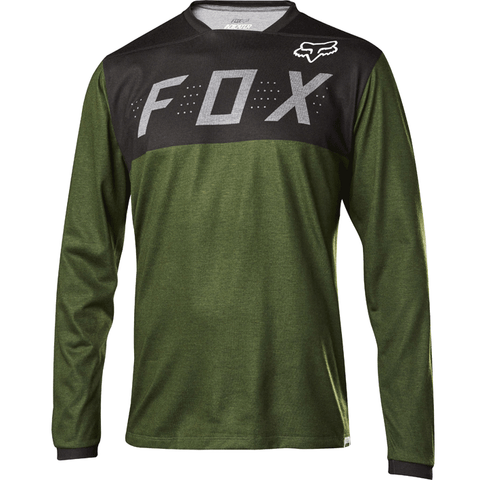 MTB Fox Trail Indicator LS Demo Jersey (Heather Fatigue)