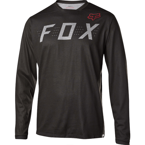 MTB Fox Trail Indicator LS Demo Jersey (Heather Black)