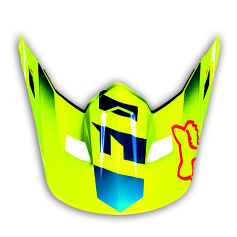 MX16 V2 Race Visor Blue/Yellow (One Size)