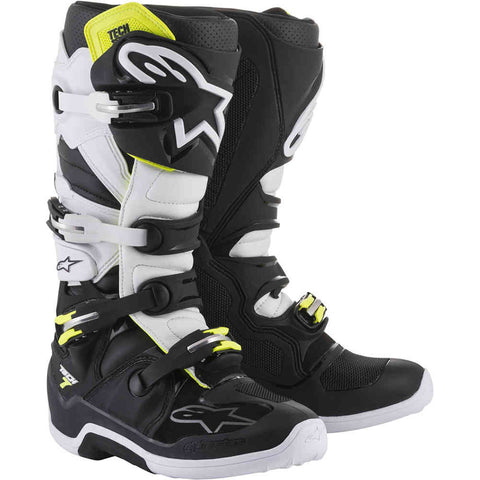 Alpinestars Tech 7 MX Boot (Black/White/Fluo Yellow)