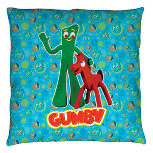 "Gumby Throw Pillow - ""Best Friends"""